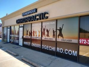 custom outdoor window vinyl signs